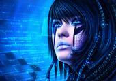 Blue Cyborg