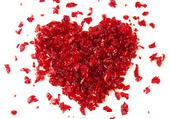 coeur rouge en papier de bonbons