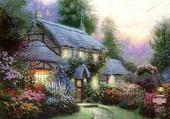 Un cottage très fleuri