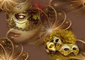 Puzzle les masques en or