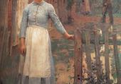 La fille à la porte