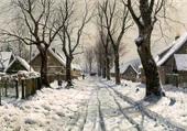 Puzzle Les hivers au village