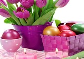Un bouquet de tulipes pour Pâques