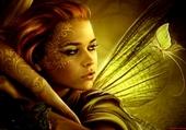 Jeune fille papillon