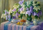 Petit déjeuner au lilas