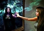 miroir aux 2 visages