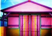 Puzzle maison colorée