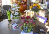 Une table bien fleurie