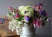Bouquet et éventail