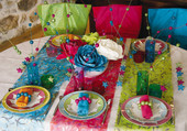 Puzzle table colorée