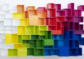 etageres colorées