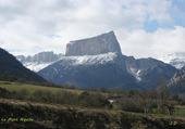 Trièves, le Mont Aiguille, de profil