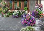 Une maison bien fleurie