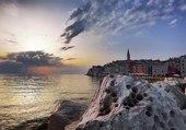 Coucher de soleil sur Rovinj Croatie