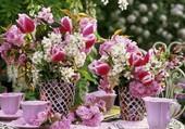 De la table  fleurie