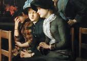 Jeunes filles à l'église