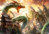 Dragon du zodiac chinois...