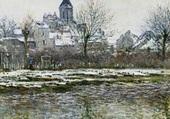 L'église de Vétheuil sous la neige