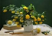 Puzzle bouquet de roses jaunes par hélène