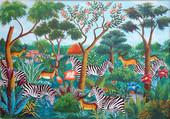 Zèbres dans la jungle