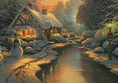 Puzzle Soir de Noël  blanc