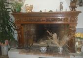 cheminée en bois