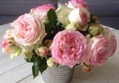 Puzzle bouquet de roses par hélène
