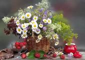 panier de fleurs des champs par hélène