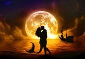 amour au bord de l'eau