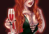 Vampire comic art