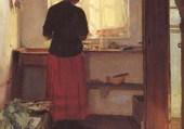 Fille dans la cuisine