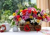 Corbeille de fleurs
