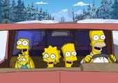 Les Simpsons en voiture vers le nord