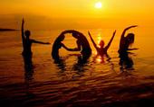 love, sea and sunrise
