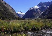Paysage de montagne en Nouvelle Zélande