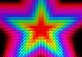 Etoile multicolore