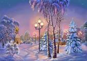 Puzzle Village russe en hiver