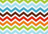 zig-zag multicolore
