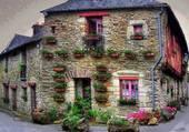paysage de france maison fleurie