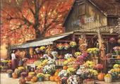 Tableau boutique fleurs