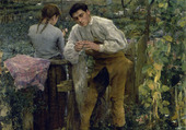 Puzzle L'amour au village