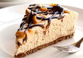 cheesecake au caramel et chocolat