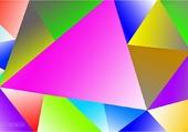 Puzzle triangles colorés