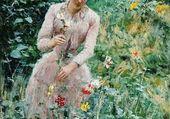 Lady dans le jardin