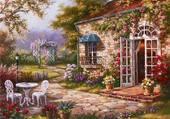 jolie maison en fleurs