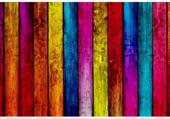Puzzle palissade multicolore