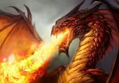 Puzzle Dragon de feu...