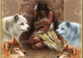 l indienne et ses loups