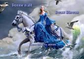 la princesse sur son cheval blanc