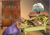 La petite fille et le chaton